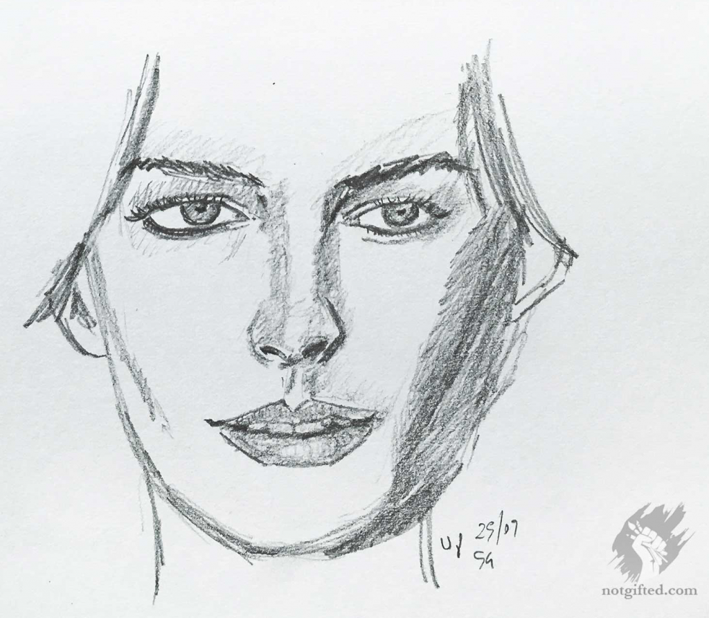 Anne Hathaway Drawing: Anne Sketch